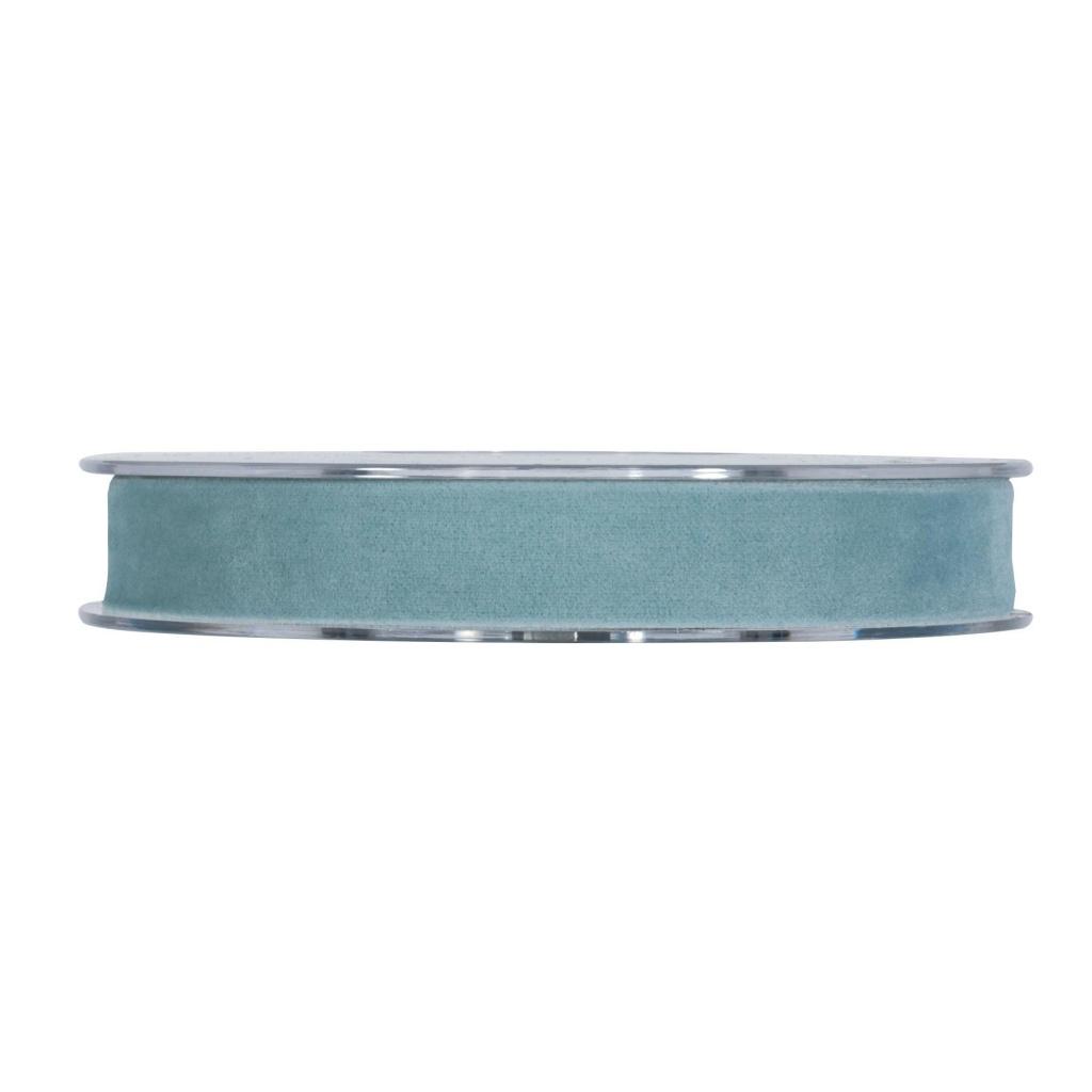 X160UN sky blue velvet ribbon 15mm x 7m