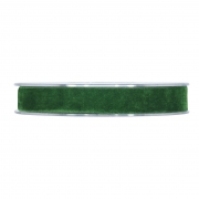 X161UN Forest green velvet ribbon 15mm x 7m