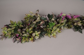 x161wh Garland of artificial green leaves L180cm