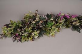 x161wh Guirlande de feuilles artificielles L180cm