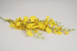 x162am Oncidium artificiel jaune H102cm