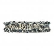X163UN Ruban de coton noir et blanc 25mm x 5m