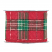 X167UN Red Scottish ribbon 63mm x 10m