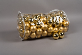 X167ZY Bag of 100 plastic balls gold D6cm