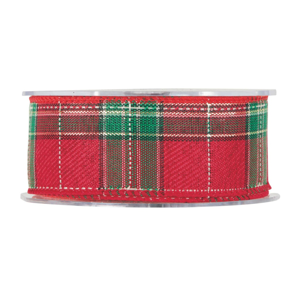 X168UN Red Scottish ribbon 40mm x 10m