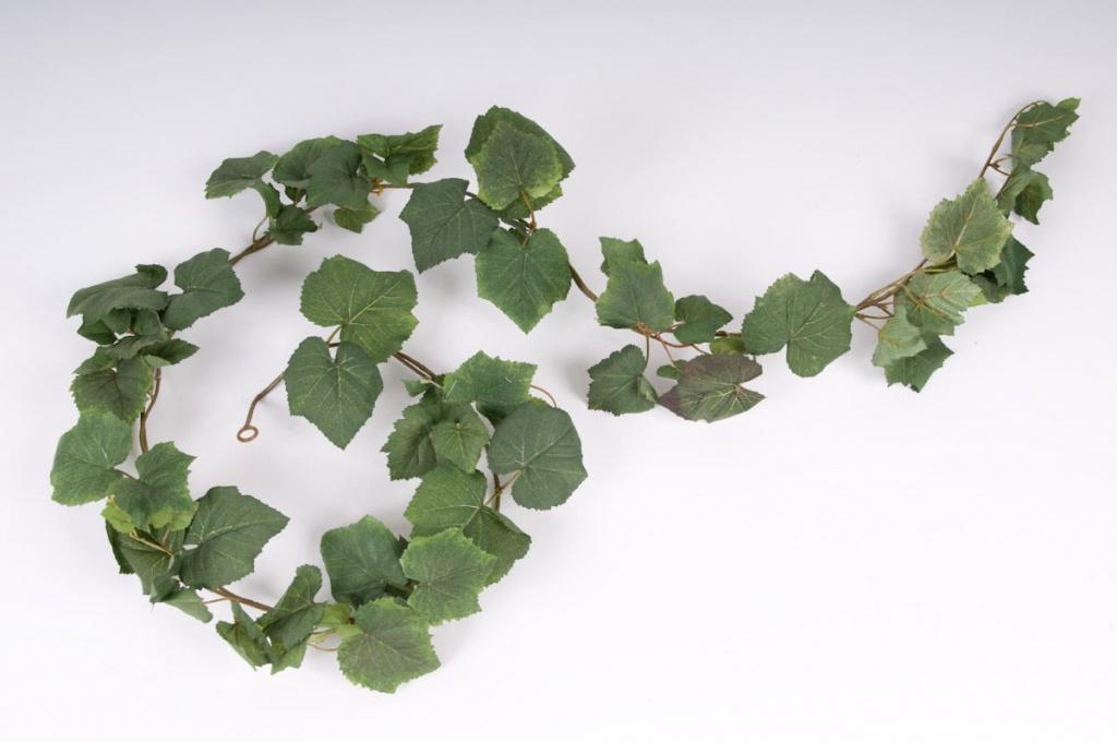 x168wh Paquet de 3 guirlandes vigne verte H180cm