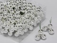 X169X4 Boîte de 144 boules verre argent D20mm