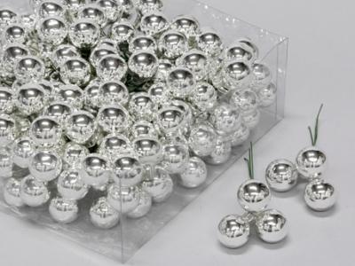 X169X4 Box of 144 silver glass balls D20mm
