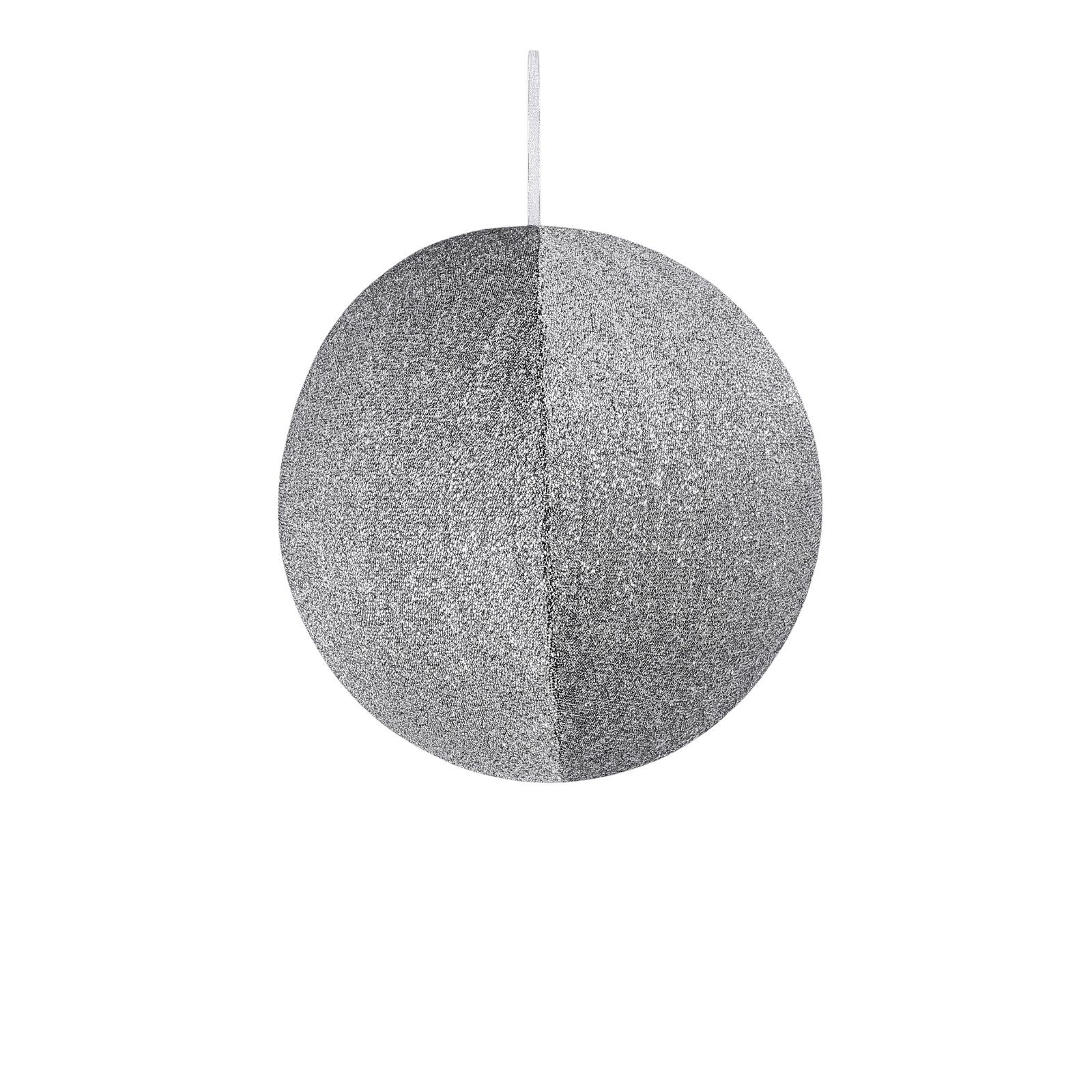 X171DQ Boule en tissu argent pailleté à suspendre D40cm