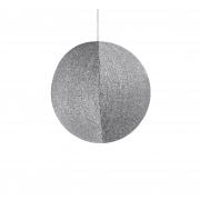 X171DQ Glittery silver ball hanging D40cm