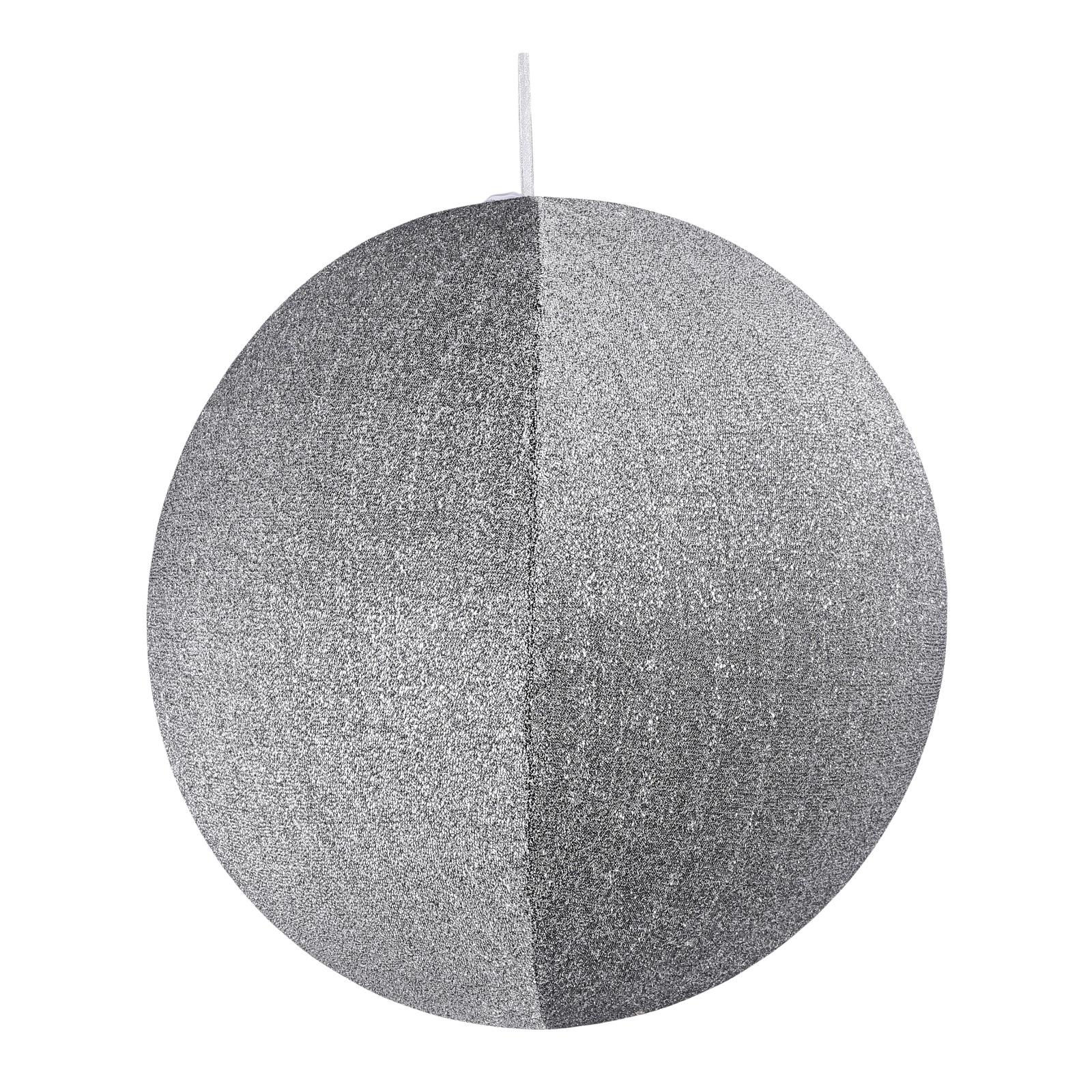 X172DQ Boule en tissu argent pailleté à suspendre D60cm