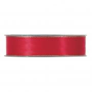 X172UN Red satin ribbon with metal edges 25mm x 20m