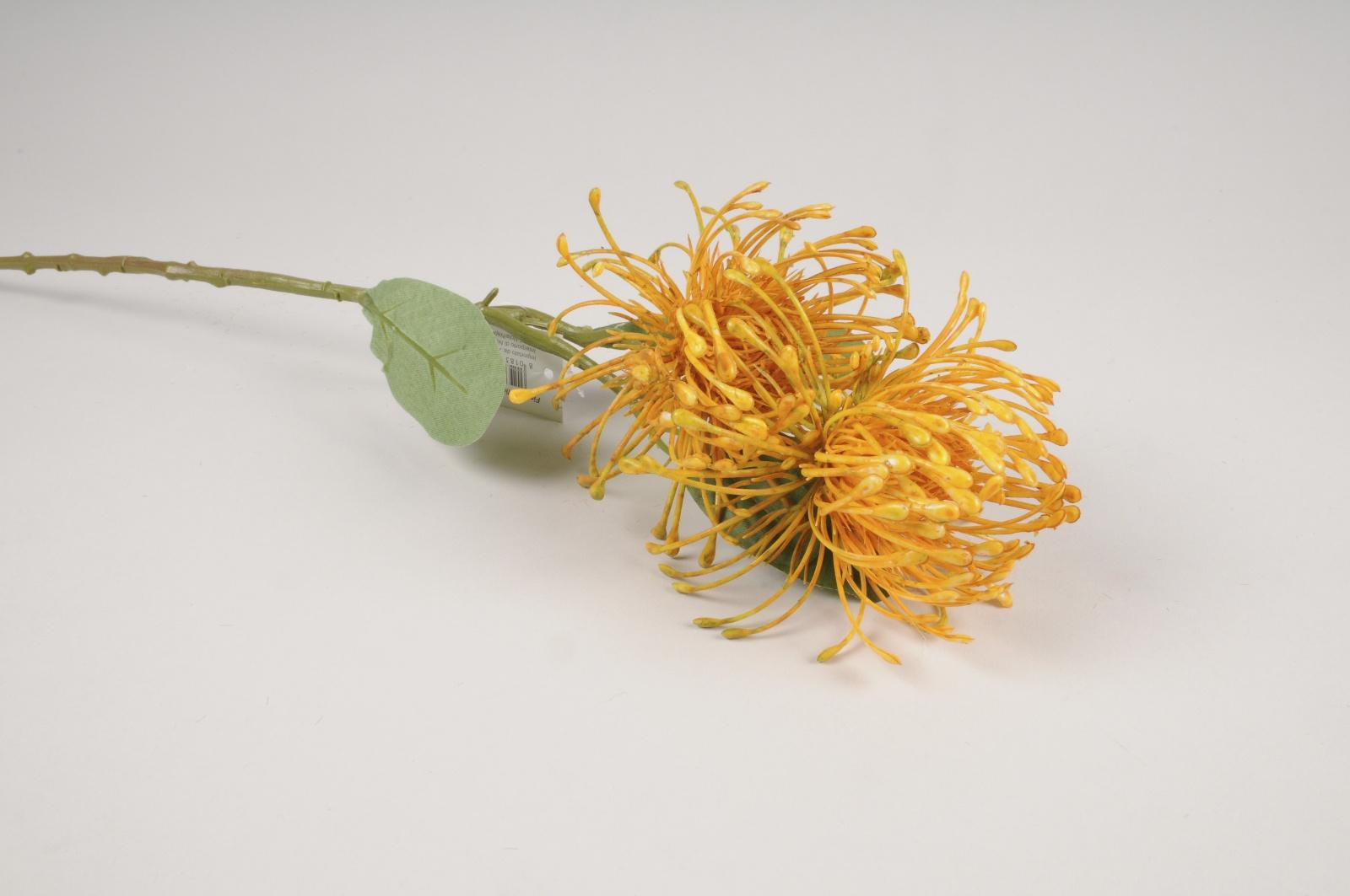 x173am Protea artificiel jaune H46cm