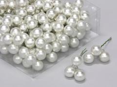 X173X4 Boîte de 144 boules verre argent D20mm