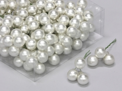 X173X4 Box of 144 silver glass balls D20mm