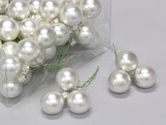 X175X4 Box of 72 matte silver glass balls D30mm