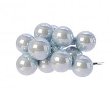 X176KI Boîte de 144 boules verre bleu glacé D25mm