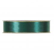 X177UN Ruban satin vert avec bords métal 25mm x 20m