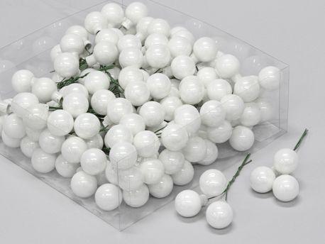 X177X4 Boîte de 144 boules en verre blanc brillant D25mm