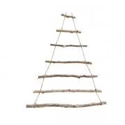 X181KI Sapin en bois enneigé H50cm