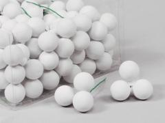 X181X4 Boîte de 144 boules en verre blanc mat D25mm