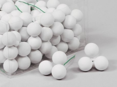 X181X4 Box of 144 white matte glass balls D25cm