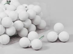 X182X4 Boîte de 72 boules verre blanc D30mm