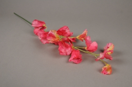 x186ee Pink artificial sweet pea H65cm