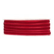 X188UN Ruban de velours rouge 6mm x 30m