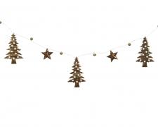 X192KI Guirlande sapin étoile grelot en fer 110cm