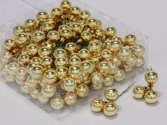 X192X4 Boîte de 144 boules en verre or D20mm
