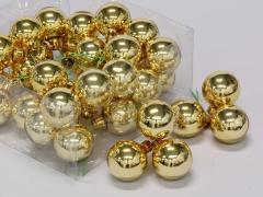 X195X4 Boîte de 36 boules verre or D40mm