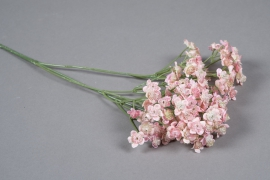 x197ee Gypsophile artificiel rose H67cm