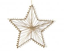 X197KI Étoile en métal or à suspendre diamètre 15cm