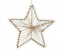X197KI Star hanging in gold metal diameter 15cm