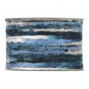 X198UN Ruban de laine multicolore bleu 63mm x 5m