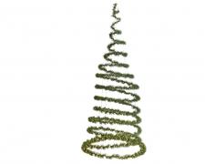 X199KI Sapin spiral lumineux vert avec LED D97cm