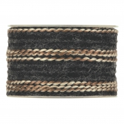 X199UN Ruban de laine noir 63mm x 5m