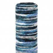 X202UN Chemin de table en laine bleu multi 30cm x 2,5m