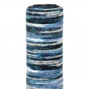 X202UN Multicolor blue woolen table runner 30cm x 2,5m