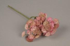 x203fd Sedum artificiel rose H30cm