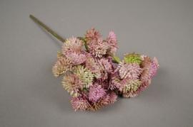 x204fd Sedum artificiel rose H30cm