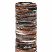 X204UN Chemin de table en laine marron multi 30cm x 2,5m