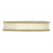 X206UN Ruban de coton crème 15mm x 15m