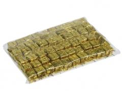 X209X4 Paquet de 60 cadeaux sur pique or H20cm