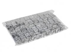 X211X4 Paquet de 60 cadeaux sur pique argent H20cm