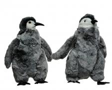 X212KI Pingouin gris à poser assorti L18cm H29cm