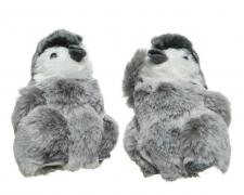 X213KI Bébé pingouin gris assorti à suspendre H13cm