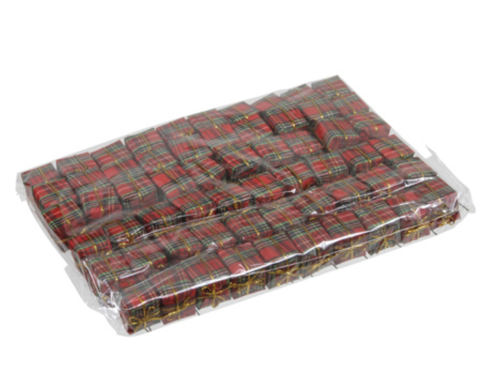 X213X4 Package of 60 red scotish design gifts on stick width 25cm H25cm
