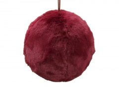 X217X4 Red synthetic fur ball hanging D20cm
